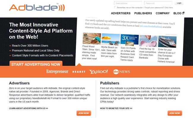 AdBlade ad platform