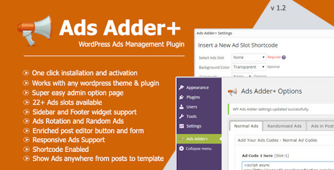 Ads Adder+ WordPress Plugin