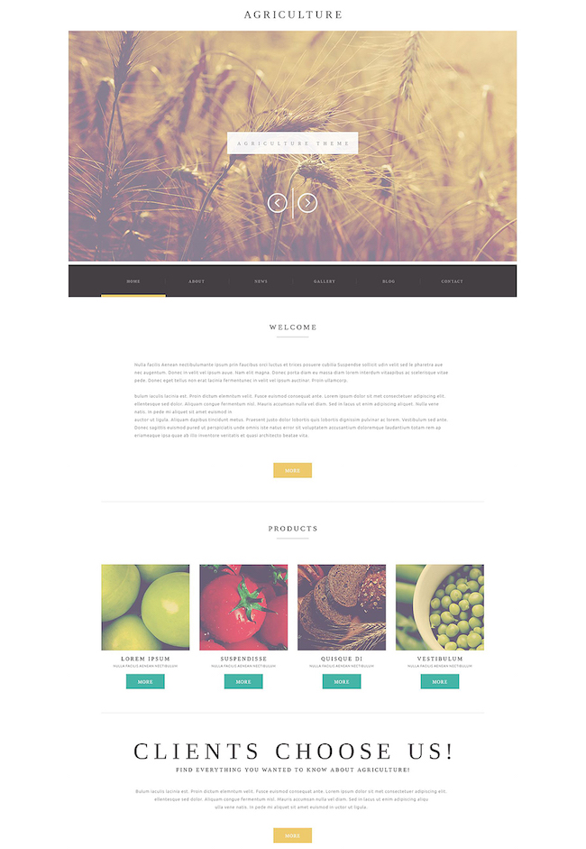 Agriculture Business WordPress Theme