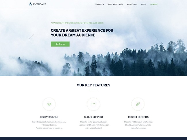 https://wordpress.org/themes/ascendant/, free parallax theme