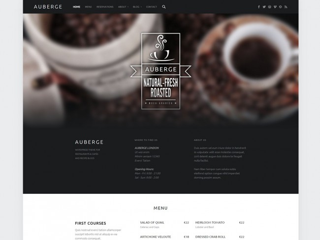 Auberge-recipes-free-blog-WordPress-theme