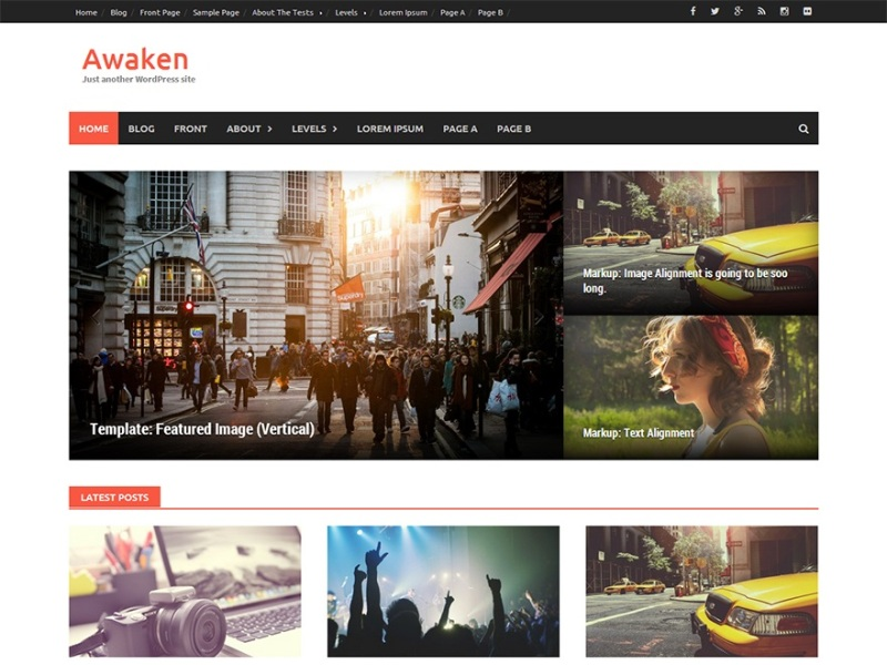 Awaken WordPress theme