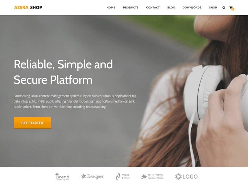 Azera Shop WordPress theme