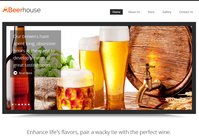 Brewery Shop WordPress Theme