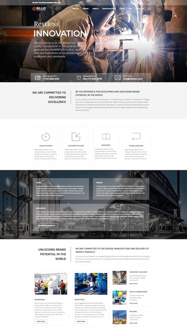 Billio Multipurpose WordPress Theme
