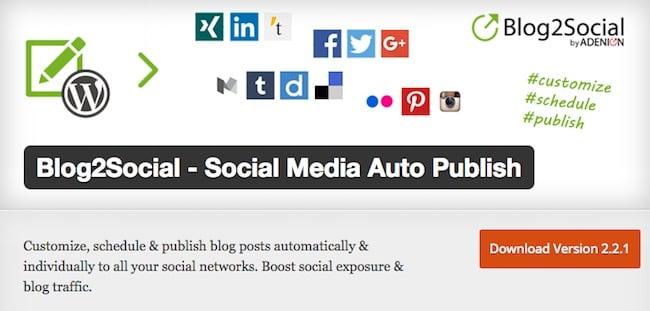 Blog2Social Social Media Auto Publish