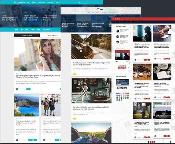BloggingBox wordpress theme demo with advertising space