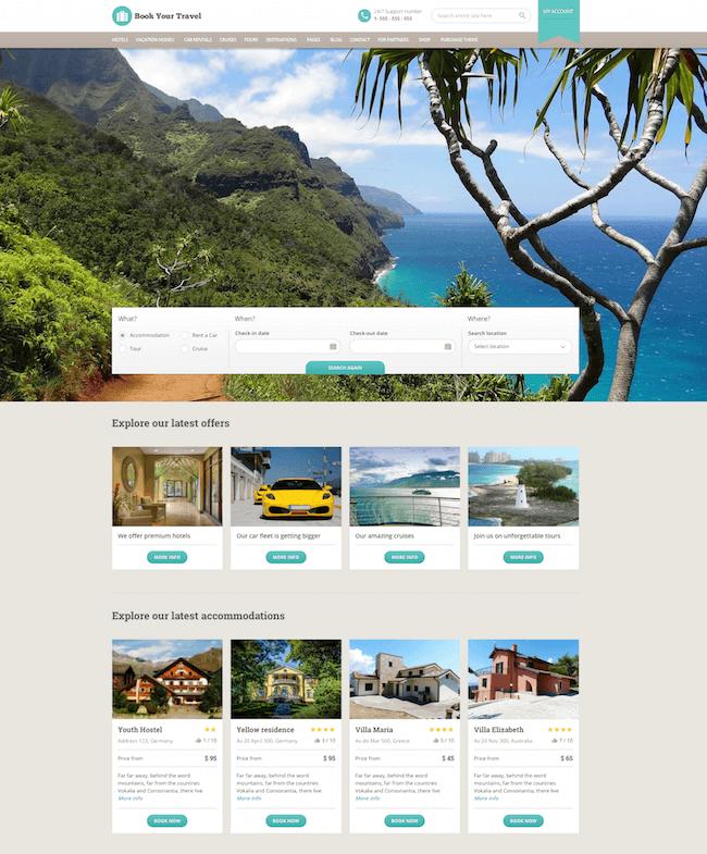 Book Your Travel WordPress Theme
