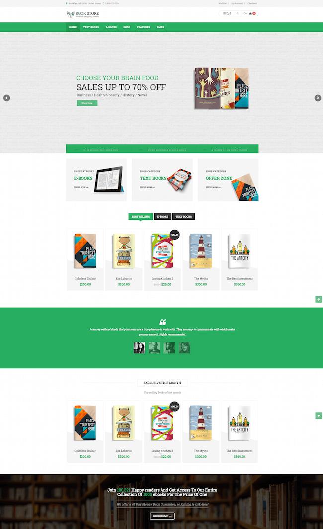 BookStore WooCommerce Theme