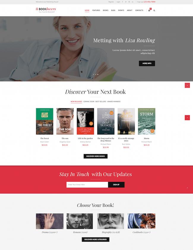 Booklovers WordPress Theme