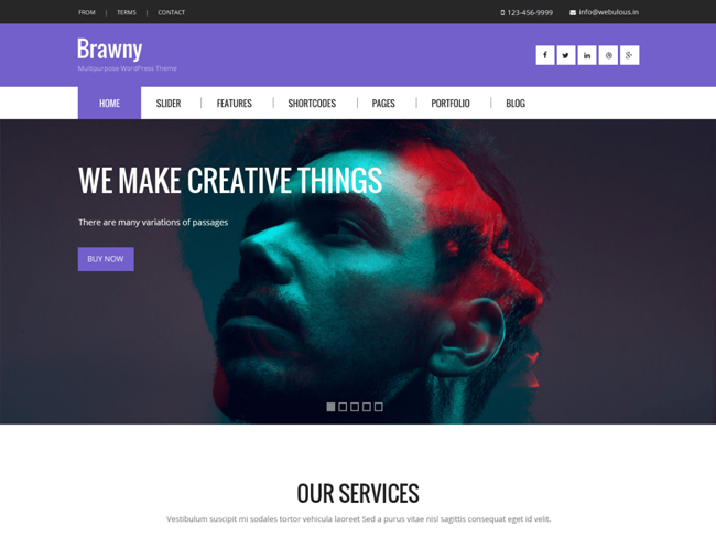 Brawny WordPress Theme