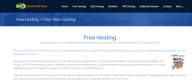 Byet Free Hosting