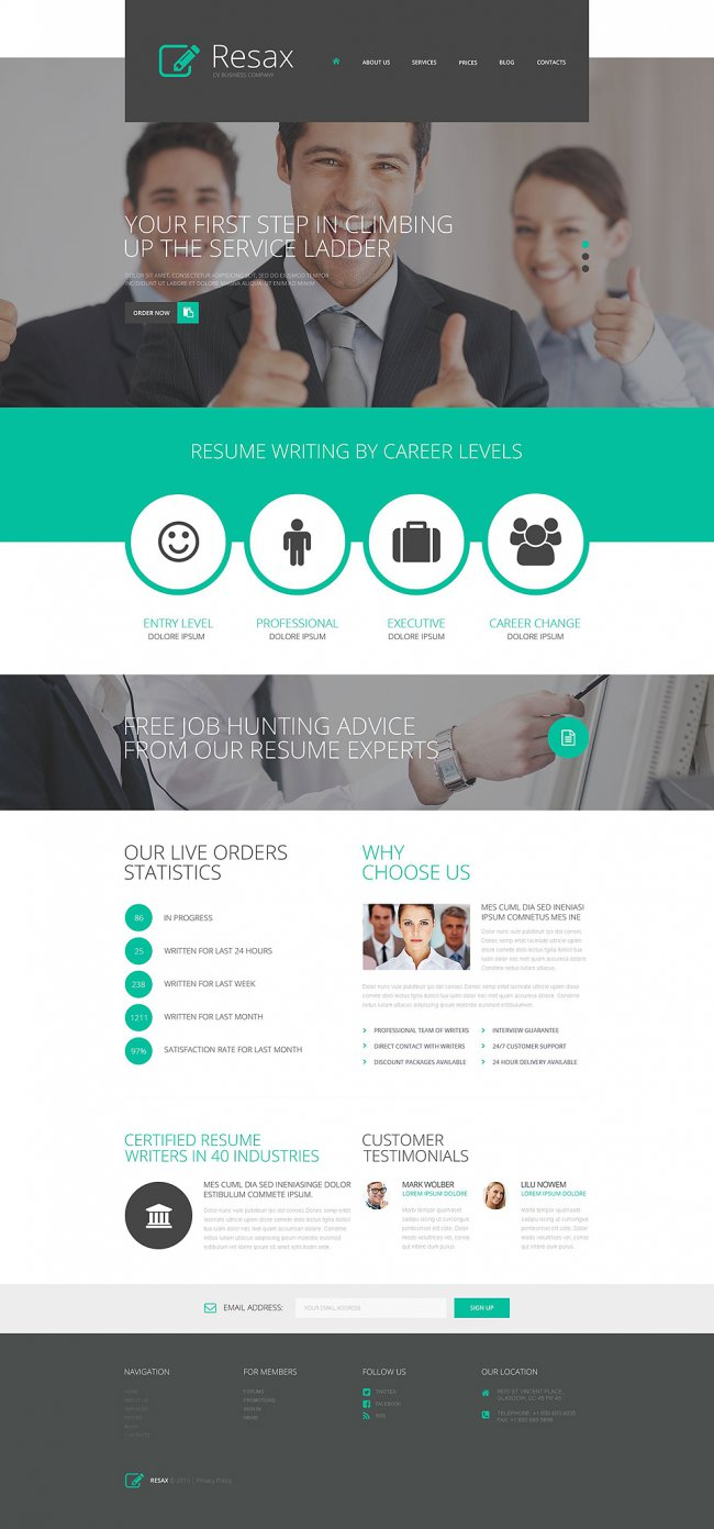 CV Business WordPress Theme
