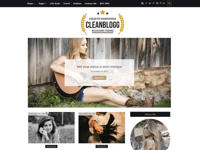 CleanBlogg WordPress Theme
