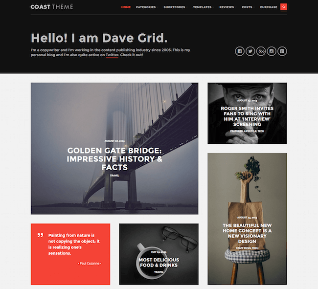 Coast WordPress Theme
