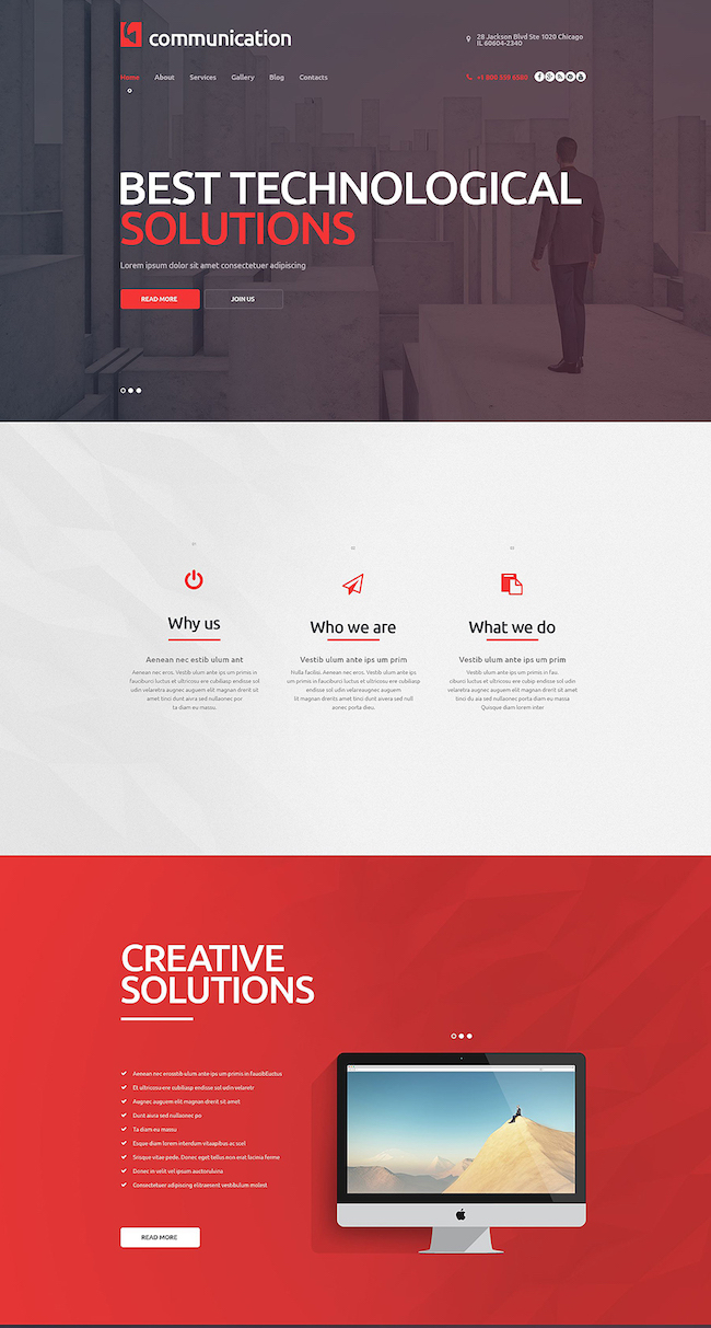 Communications Company WordPress Theme