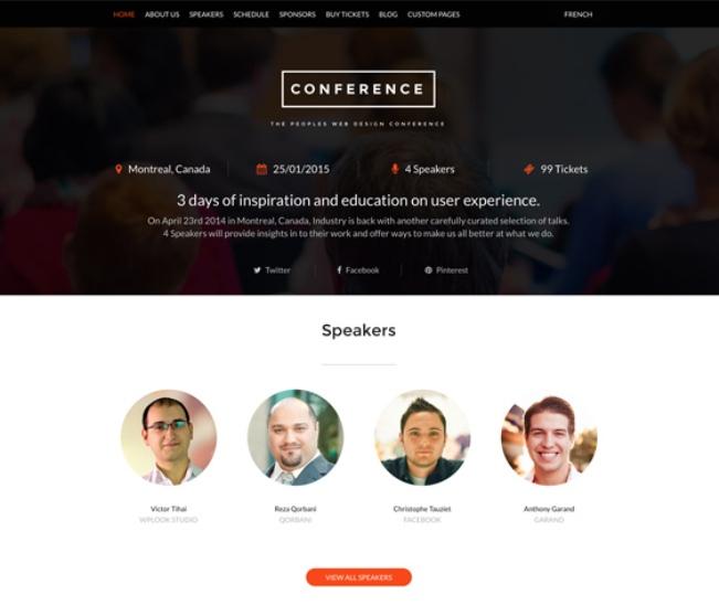 Confeence WordPress Theme