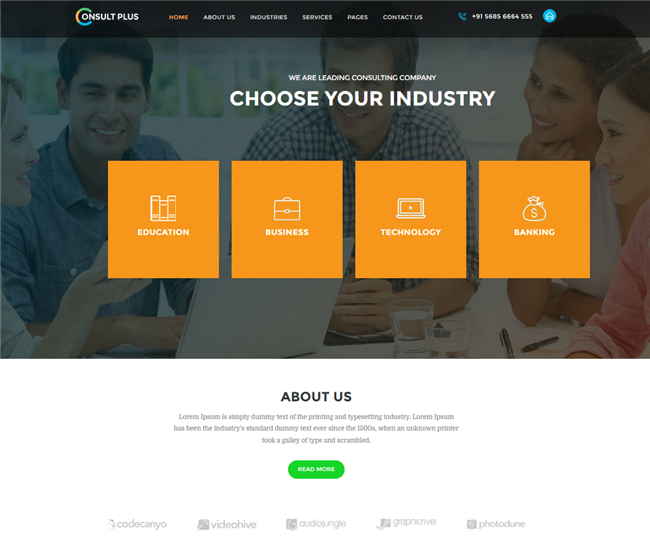 consult plus wordpress business consulting theme