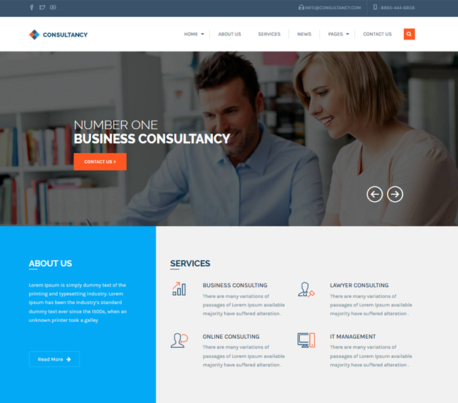 consultancy wordpress business consulting theme