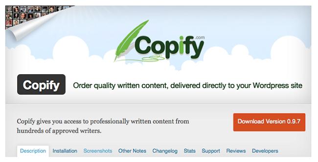 Copify, free autoblogging plugins