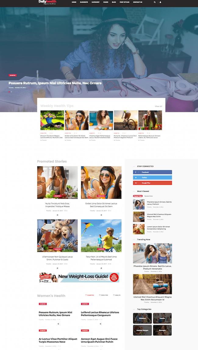 DailyHealth WordPress Theme