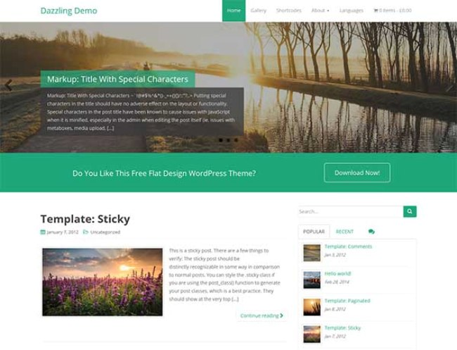 Dazzling-free-wordpress-theme