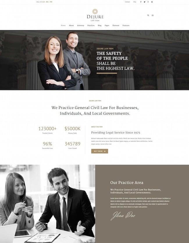 Dejure Law WordPress theme
