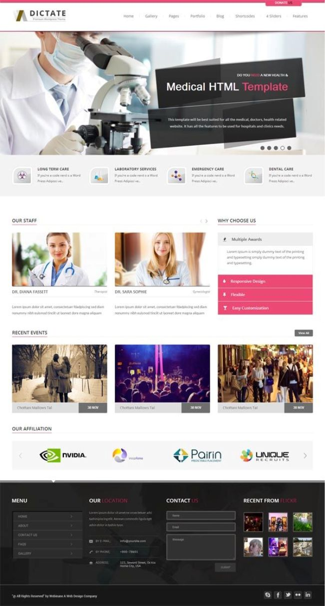 Dictate WordPress Theme