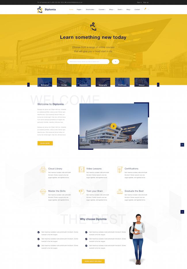 Diplomia WordPress Theme