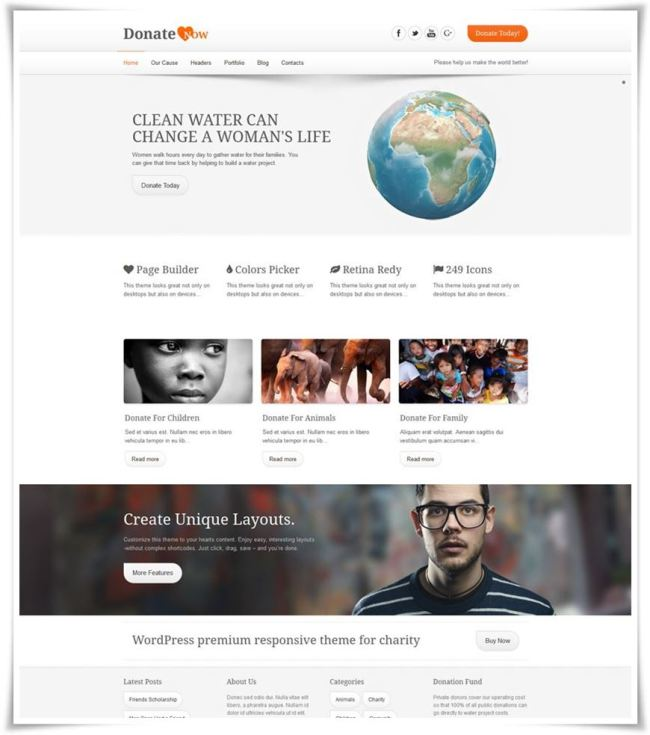 DonateNow WordPress Theme