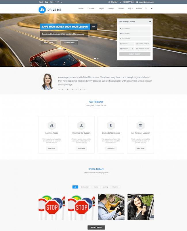 Driveme WordPress Theme