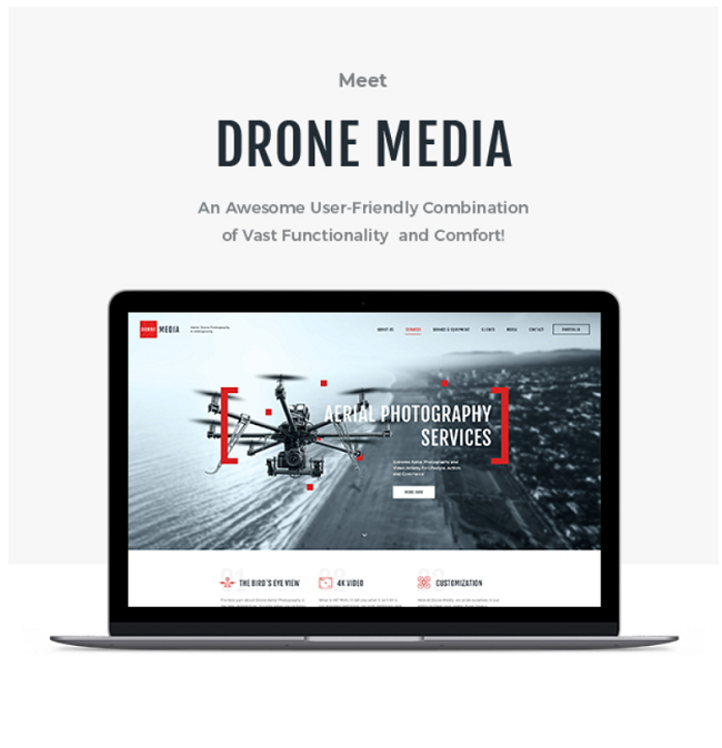 Drone, Gutenberg WP theme