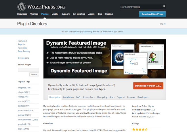 Dynamic Featured Image WordPress Plugin