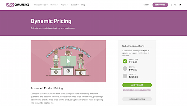 Dynamic Pricing ecommerce plugin landing page