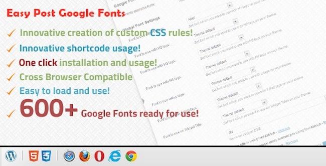 Easy Post Google Fonts