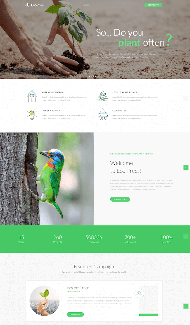 Eco Press WordPress Theme