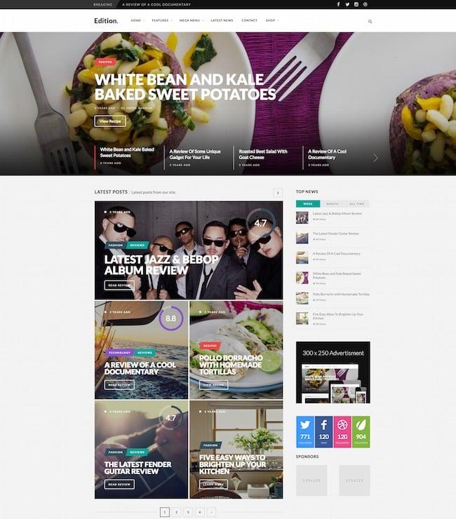 Edition WordPress Theme
