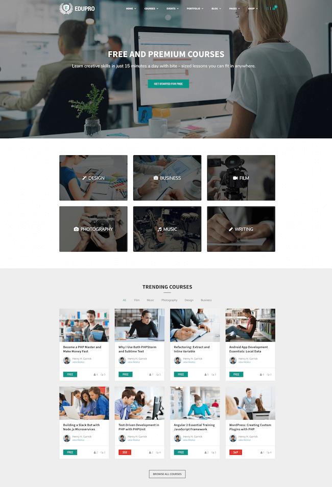 Education WordPress Theme Pro