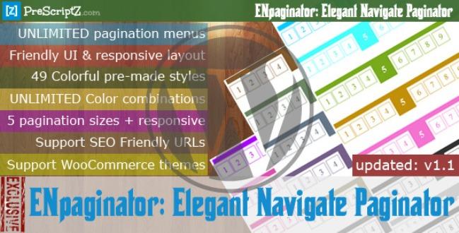Elegant Navigate Paginator for WordPress