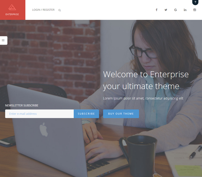 enterprise wordpress business consulting theme