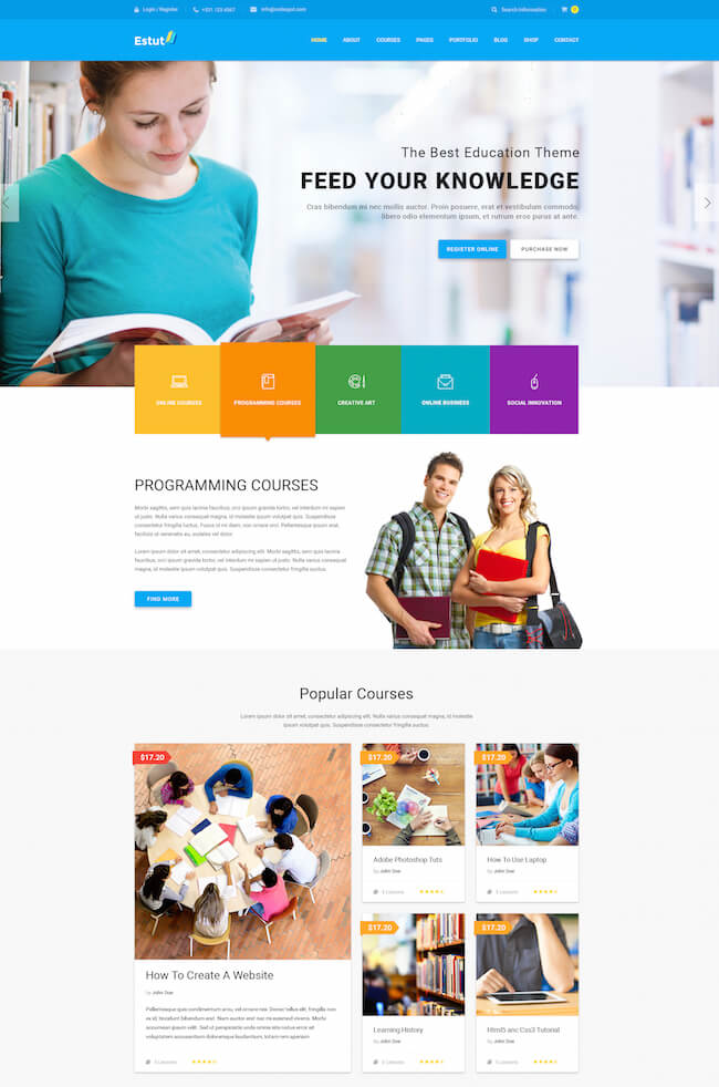 Estut WordPress Theme