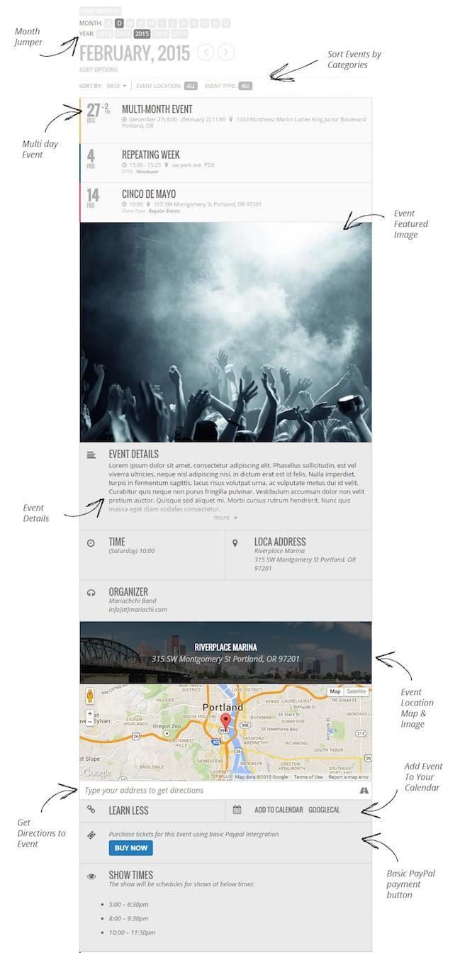 Event calendar plugin EventOn