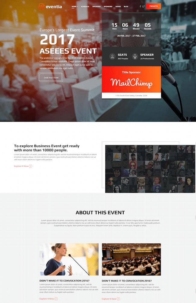 Eventia WordPress Theme