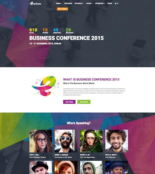 Eventum Event WordPress Theme