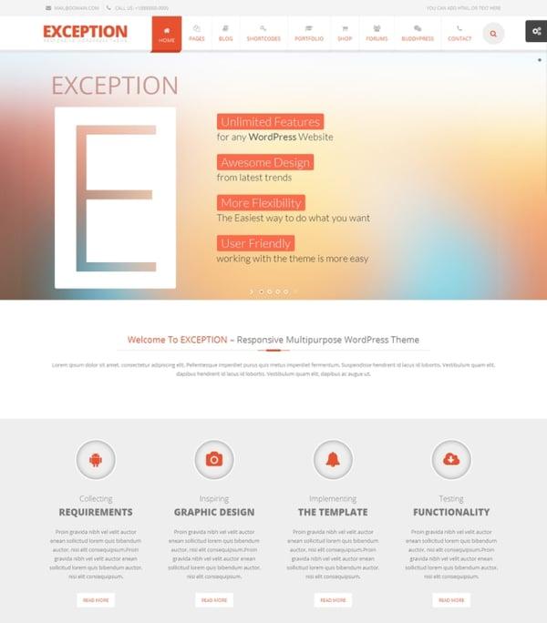 Exception-responsive-multipurpose-wordpress-theme
