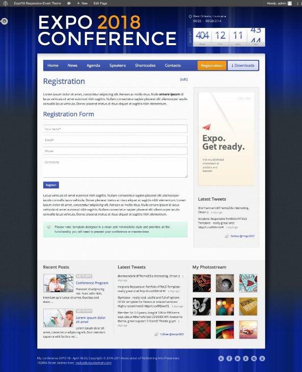 Expo18 WordPress Theme