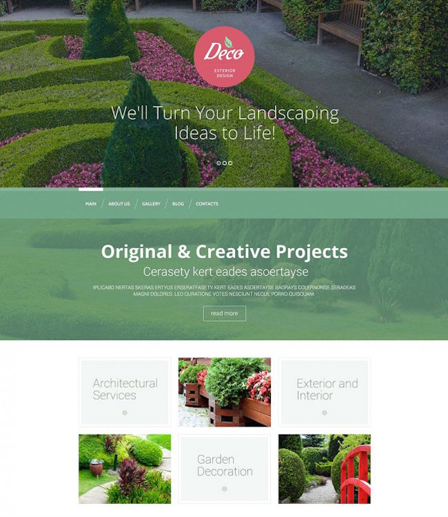 Exterior Design Mastery WordPress Theme