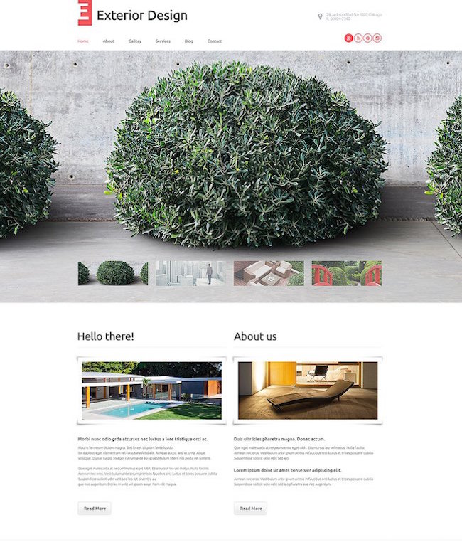 Exterior Design WordPress Template