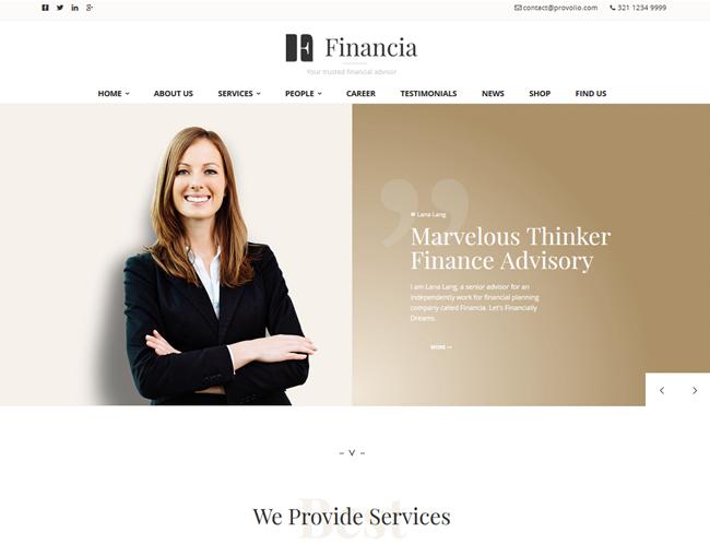 Financia theme