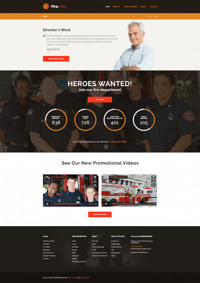 fire-department-wordpress-theme